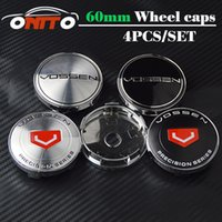 Wholesale Centre Wheel Caps Cars - 4pcs Vossen Car Styling 60mm wheel center cap Accessories Emblem Badge Wheel Center Hub Caps Centre Covers Auto accessories Free shipping