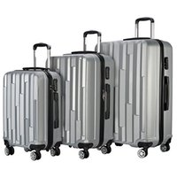 """Wholesale 24 spinners - Wholesales 3 Piece Lightweight Carry on Luggage Set wheel spinner Suitcase Travel Suitcase ABS School Rolling Trolley 20"""" 24"""" 28"""""""