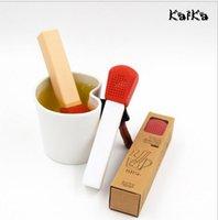 infusor de té de regalo al por mayor-Regalos de Navidad Creative Tea Match Tea Infuser 15.5 * 3.3cm Silicona Tea Straubers Decoraciones para bodas