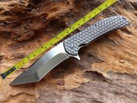 Wholesale Open Mirrors - New TwoSun Mirror Blade Ball Bearing Fast Open Opening Outdoor Pocket Folding Knife TS55--MB