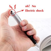 Wholesale Wholesale Shock Pen - NEW Fancy Shocking Ball Point Pen Electric Shock Toy Gift Joke Prank Trick Fun Hollween Toy
