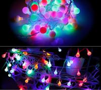 ingrosso luci fiabe rosse a spina-Con tappo di coda Luce natalizia Holiday Outdoor 10m 100 LED 8 modalità scelta Rosso / verde / RGB Fata Luci Impermeabile Festa vacanza Luce da giardino
