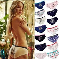 Wholesale panties lady underpants - Women Cotton Underwear Lady Cat Skull Letter Printed Lingerie Knickers Panties Briefs Low Waist Underpants 18 Styles LJJO3182