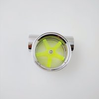 """Wholesale Wholesale Water Meters - Wholesale- Silver Color Full Copper Standard G1 4"""" Female to Female Water Cooling Flow Meter   indicator"""
