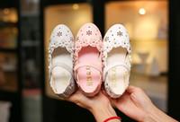 Wholesale Girl Flower Princess Shoe - New Floral Girl Dress Shoes princess Kids Dress Shoes soft-soled Flower Leather shoes Children Footwear Spring Autumn A904