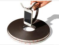 tiras de borracha magnética venda por atacado-2 Metros de Publicidade Flexível de Ensino Tira Magnética 3 M Ímã De Borracha Largura12.7x1.5mm (com adesivo frente e verso)