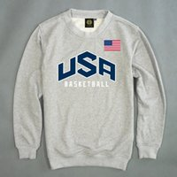 Wholesale Usa Basketball Sweatshirt - 2016 autumn winter Hoodies USA Basketball Sweatshirts men Hoodies Hip Hop chest letters printed black Hoody Pullover ding
