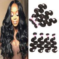 Wholesale Hair Weave Sale - Hot Sale! Peruvian Malaysian Filipino Indian Brazilian Body Wave Hair 3 Bundles 8A Unprocessed Virgin Human Hair Weaves 8-26inch Double Weft