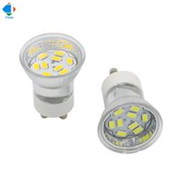 Wholesale Glass Bulb Shell - 5x 12v led spotlight gu10 bulb lamp light 12 volt smd 5730 9 leds glass shell small spot lighting for under kitchen cabinet