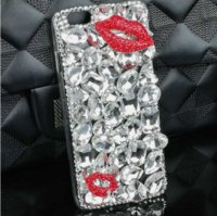 Kuss Lippen Mode Kaufen -Art und Weise Kuss-Kristallabdeckung Bling Stein rote Lippen Fall für Iphone 8 7 plus 6 6s 5s samsung S6 S7 S8 Rand-Diamantrhinestone-Handy-Kästen