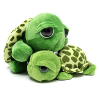 Wholesale Stuffed Turtles Big Eyes - Wholesale-Cute Big Eye Series Tortoise Doll Turtle Stuffed Plush Sweet Animal Family Soft Cotton Toy Baby Kid New Year Gift Home Car Decor