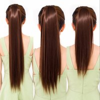 Sara Neverland Drawstring Staight Ponytail Extension de cheveux Clip en queue de cheval Pony Tail Hairpiece Straight Horsetail