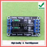 solid state relays wholesale Canada - Free Shipping 3pcs 2-Way 5V Low-Level Solid-State Relay Module with Fuse Solid State Relay 250V2A (C4A2)