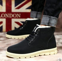 Wholesale Western Cotton Top - Winter mens snow boots warm Korean boots thickening casual high - tops mens cotton shoes velvet Martin boots