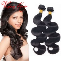 Body Wave brésilien Wet And Wavy Hair Bundles 3 Pcs / Lot Cheap Hair Weaves Extensions Vente Natural Black Hair Hair Bundles For Wholesale