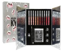 Wholesale Light Gift Boxes - Fast delivery Kylie Holiday big box limited edition makeup set lipstick eyeshadow eyeliner set kylie jenner New Christmas gift free shippin