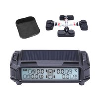 Wholesale Tool Camera Monitor - Solar Power Wireless LCD Display TPMS with 4 Internal Sensor 2017 New Car Tire Pressure Monitoring Intelligent system Free Shipping