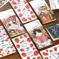 Wholesale Craft Paper Notebook - Wholesale- 1Pc Fruit and Cat Pattern Craft Paper Notebook Journal Diary Notepad Soft Copybook Cute Stationery School Office Supplies