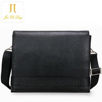 Cow Leather Business Men Briefcase Homens Street Snap Moda Saco Plain Black Cross Body Nice Fashion