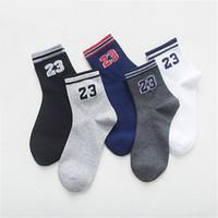 Wholesale Elite Sox - 2017 NEW Men&Women Brand letter No.23 Red Socks Cotton Foot Basket in tube Socks Male Elite Sox white Sock free shipping