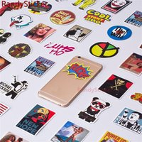 Wholesale Phone Sticker Cover Wholesale - Funny Mixed decal toy Styling Car Fridge Phone DIY Skateboard Laptop Luggage Snowboard Vinyl Decal Motorcycle toy Sticker Covers