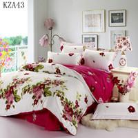 Wholesale Beautiful Duvet Sets - Wholesale- Beautiful flower pattern bedding set 4pcs 100%cotton pillowcase duvet cover bed sheet twin full queen king size long-term supply