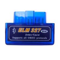 isuzu bluetooth diagnosewerkzeug großhandel-HEISS!! OBD mini ELM327 Bluetooth OBD2 V2.1 Selbstscanner OBDII 2 Tester-Diagnosewerkzeug der Auto-ULMEN-327 für Android Windows Symbian