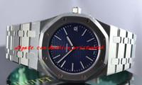 erkekler en ince saatler toptan satış-Moda Marka Lüks Saatler Ultra Ince st.oo.1240st.01 Mavi 39mm Kuvars Mens Watch Erkekler Saatler erkek Izle Üst Kalite