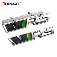 Wholesale Rs Emblem Metal - Metal VRS RS front grill emblem sticker Badge for Skoda Octavia a5 2 a7 Rapid Fabia Superb Yeti Roomster auto car accessories