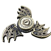 Wholesale Yellow Dragon Toy - 2017 New Fidget Toy For Game of Thrones Hand Spinner Metal Finger Stress Tri Spinner Dragon DHL free shipping