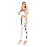 Wholesale Sleeveless Spandex Suits - New Summer Women's Sport Tracksuits Set Tank Top and Shorts Set Activewear Suits Two Pieces Sleeveless Yoga Set