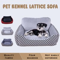 New All Seasons Canvas imperméable à l'eau en coton Pet Kennel Lattice Sofa Small Medium Large Dog Cat Beds