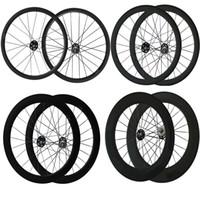 Wholesale Gears For Bikes - 700C Track bike Wheels 24mm 38mm 50mm 60mm 88mm Fix Gear Wheelset Clincher Tubular Fix Gear Wheels Carbon Bike Wheelset for Track Bike