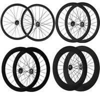 Wholesale 24mm Carbon Tubular - 700C Track bike Wheels 24mm 38mm 50mm 60mm 88mm Fix Gear Wheelset Clincher Tubular Fix Gear Wheels Carbon Bike Wheelset for Track Bike