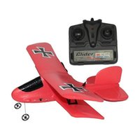 Wholesale Epp Airplane - Flybear FX-808 2.4G 2CH EPP Micro Indoor Parkflyers RC Biplane RTF Airplanes High quality airplane airbus