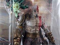 "Wholesale Kratos Armor - armor alloys Free Shipping 7.5"" God of War Kratos in Golden Fleece Armor with Medusa Head PVC Action Figure Collection Model Toy MVFG015"