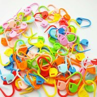 100Pcs / set colorato di plastica Knitting Crochet blocco Stitch Markers Crochet Fermo Knitting Tools Ago a gancio colore misto