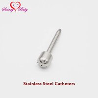 Wholesale Tube Sex Urethral Stretching - A031 Multi Out Hole Hollow Urthral Dilators Stainless Steel Sounding Penis Plug, Urethral Catheter Stretching Tube Male sex toys
