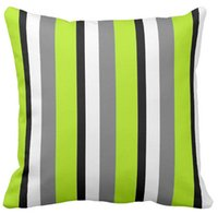 Barato Almofadas De Limão-Throw Pillow Case, Grey Lime Black White Stripe Quadrado rosa sofá e carro almofadas cobrir (16inch, 18inch, 20inch)