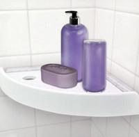 Wholesale tier bathroom shelf for sale - Group buy SnapUp Shelf Corner Add Storage To Any Corner In The House Multi function bathroom rack shelf wall mounted corner shelf LJJK733