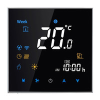 Wholesale Digital Display Thermostat - Wholesale-95-240V 16A Thermostat Electronic Heating Type LCD Digital Heating Room Sensor Thermostat Temperature Humidity Heat Time Display
