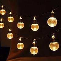 luces de hadas led conectables al por mayor-Venta al por mayor- 2017 NUEVA Luz LED de hadas de Navidad para exteriores 20 Globo conectable Adorno Fiesta de Bola Partido UE MAY09_25