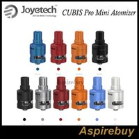 Wholesale Valve Leak - Joyetech CUBIS Pro Mini Atomizer 2ML with Leak Resistant Cup Design Adjustment of Liquid Valve Apply Multiple BF Heads New AddWrinkle Colors