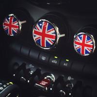 Wholesale Cooper Union - 3D 3pcs lot rubber black union jack car interior accessories for mini cooper s F55 F56 2014 2015