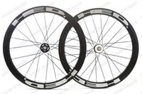 Wholesale carbon track wheels clinchers - Free shipping 700c 50mm depth 25mm width clincher carbon wheels track wheel fixed gear single speed wheelset with hub Novatec 165 166