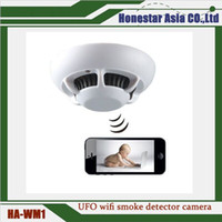 UFO wifi Rauchmelder Kamera Mini Spion Kameras Full HD 1080P IP / P2P Rauchmelder Kamera