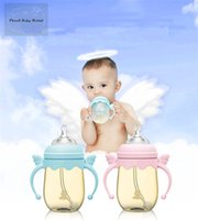 Wholesale snow bear NAngel PPSU suction bottle ml ewborn baby wide aperture glass bottle Anti gas flask with the handle The silicone pacifier