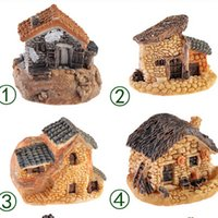 1Pcs 8 Stili Casa in pietra Fairy Garden Miniature Craft Micro Cottage Figurine Mini Landscape Decoration For DIY Resin Crafts