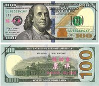 Wholesale Pencils Art - $1 2 5 10 20 50 100 Dollars Fake Paper Money Bank USA Training Collect Learning Banknotes 100Pcs Set