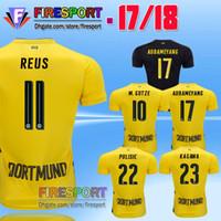 Wholesale Dortmund Jerseys - Top Quality New 2017 Borussia Dortmund REUS Soccer Jersey 17 18 M GOTZE Home Yellow Away Black KAGAWA AUBAMEYANG PULISIC football Shirts